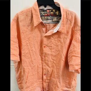Men's Robert Graham island linen ss shirt